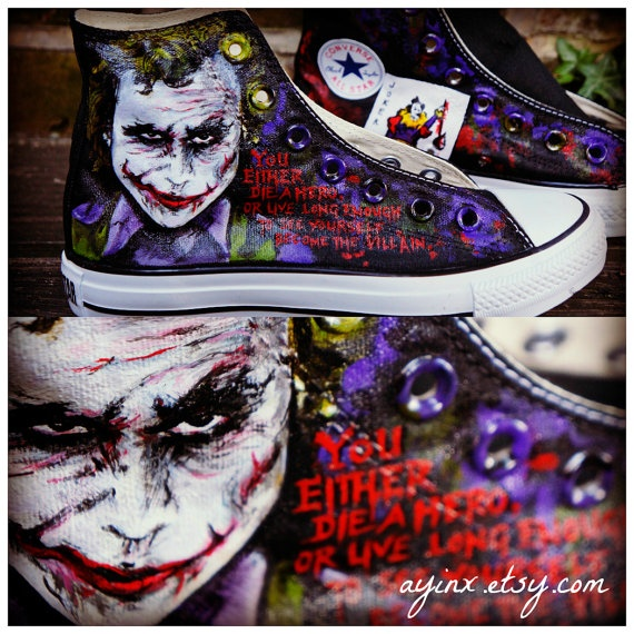 The Joker Converse. This is so cool!
