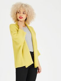 c(inch) Cocoon Cardigan Chartreuse