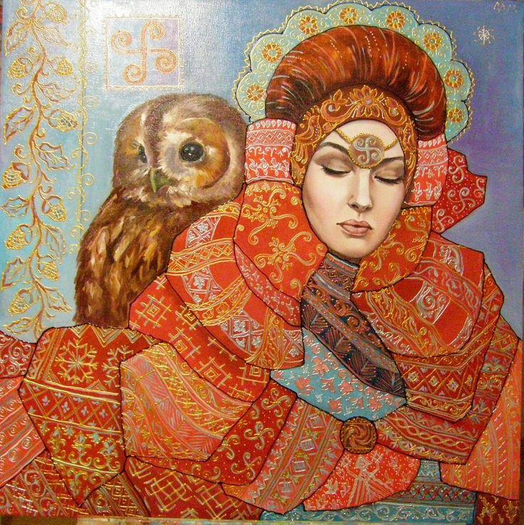 женская сила (хранительница) - Изобразительное искусство - Масло, акрил