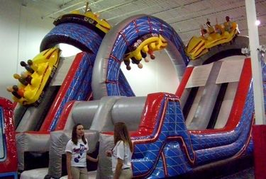 Cool Roller Coaster Bounce House!