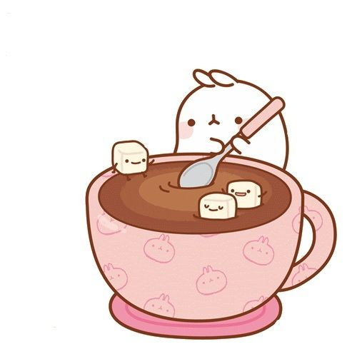 Molang has cocoa.