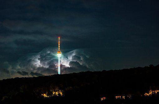 In Stuttgart bleib es zunächst beim Wetterleuchten – doch schwere Gewitter kann es auch am Samstag noch geben. Foto: 7aktuell.de/Gerlach