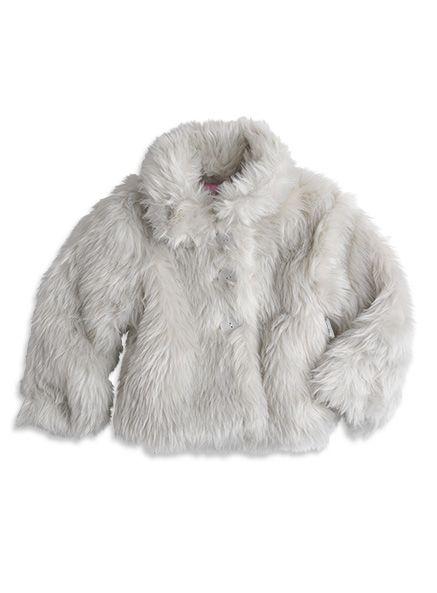 Pumpkin Patch - jackets  - silver fox faux fur jacket - W3TG40030 - silver fox - 6-12mths to 6