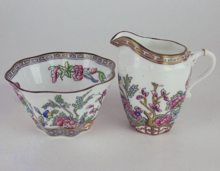 Creamer Sugar Bowl Coalport Indian Tree Vintage England Multicolored | eBay