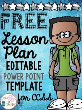 Aligned with Common Core, these lesson plan pages are created for K-6 teachers and can easily be edited and adapted for ANY grade level.