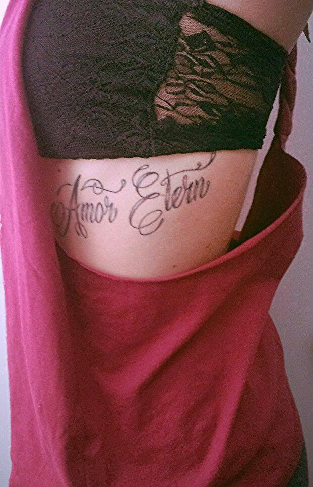 Mijn eerste tatoeage. Betekenis: Eeuwige liefde
