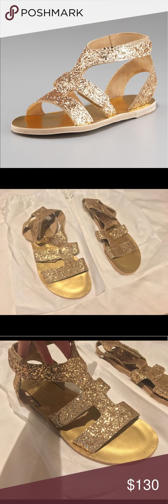 Pedro Garcia Zanna Gold Glitter Gladiator Sandals 100% authentic Pedro Garcia glitter gladiator sandals in a size 39. Have only been worn once, excellent condition. Will fit a US 8.5 or 9. Does not include box. Pedro Garcia Shoes Sandals