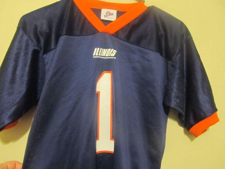 Illinois Fighting Illini Football jersey - IZAW youth small #IZAW #IllinoisFightingIllini