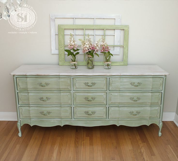 Beautiful Shabby Chic Painted French Provincial With White Wash Tutorial!