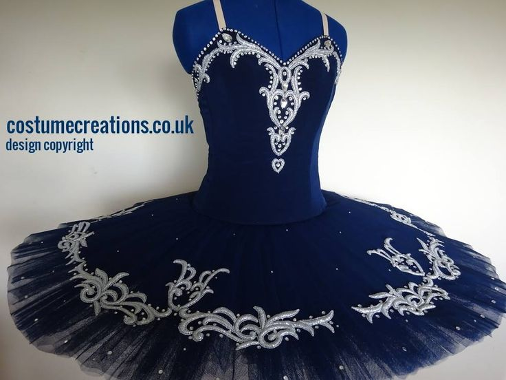 Navy Blue Classical Ballet Tutu custom made by tutu maker Monica Newell Costume Creations UK - London Birmingham Ediniburgh