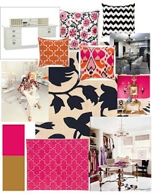 Office decor inspiration. Precious colors and patterns.