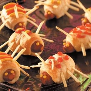 Halloween baby shower food Creepy Crawly Halloween Party #halloween #food www.loveitsomuch.com