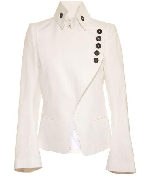 Ann Demeulemeester white jacket, as seen on Olivia Pope on Scandal.