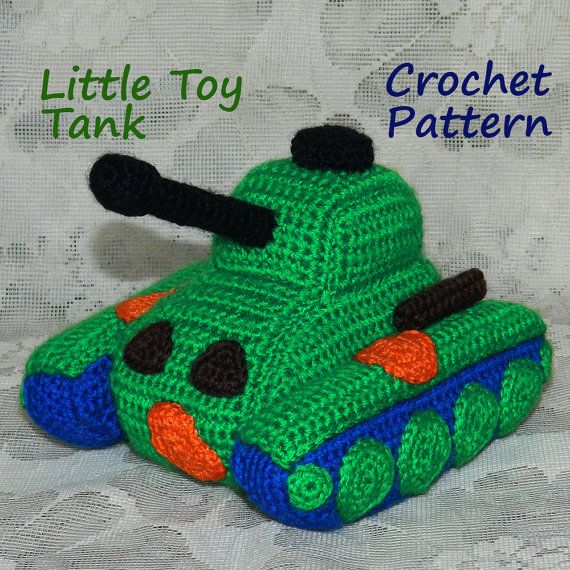 Crochet Pattern. Little Toy Panzer Tank by InspiredCrochetToys