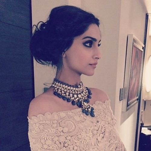 Sonam Kapoor in polki neckless                                                                                                                                                      More