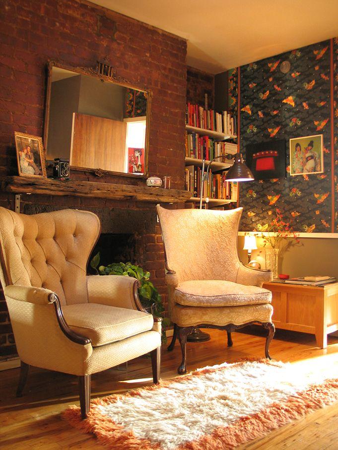 LovelyEclectic Design, Decoracion Habitaciones, Cozy, Decor Dos, Interior Decoration, Living Room Fireplaces, Chairs, Decorate Your, Architecture Interiors Design