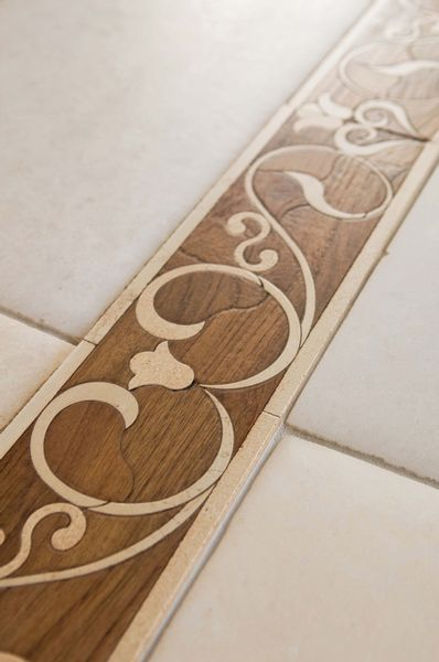 400 best thresholds transitions images on pinterest for Floor tiles border design
