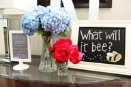 Love this theme for a gender reveal party #babyshower #genderreveal #bumblebee