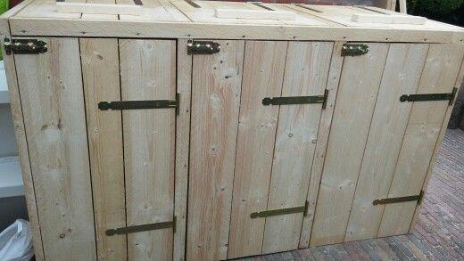 Kliko-ombouw op maat gemaakt met steigerhout