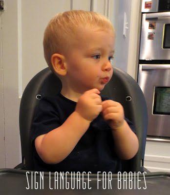 Teaching sign language to babies