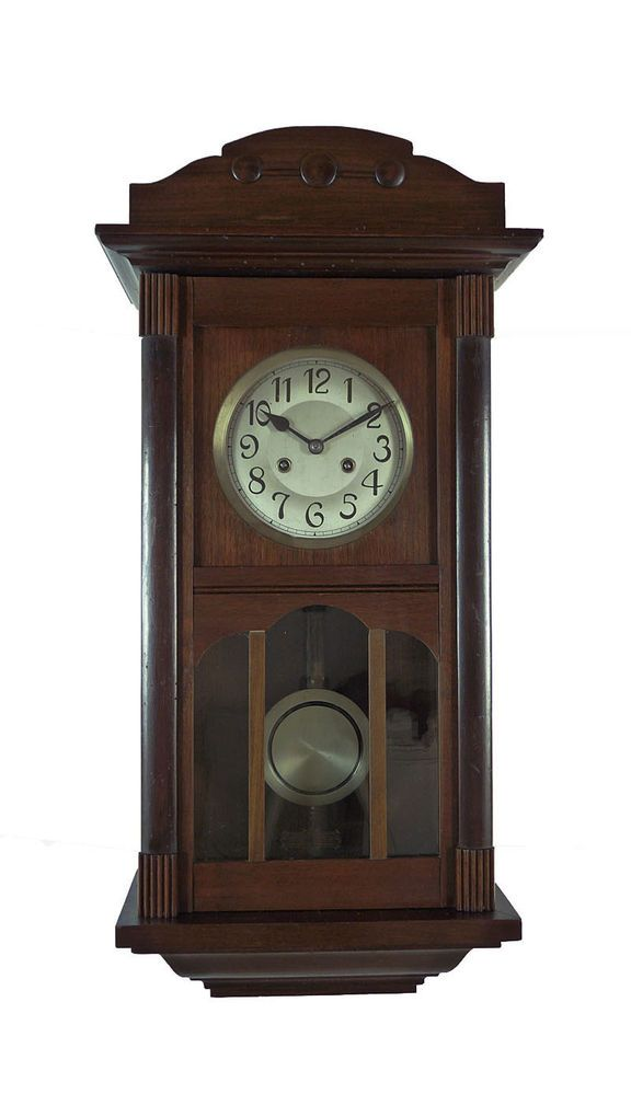 73 best antique clocks german junghans viennese images on pinterest antique clocks - Wall hanging grandfather clock ...