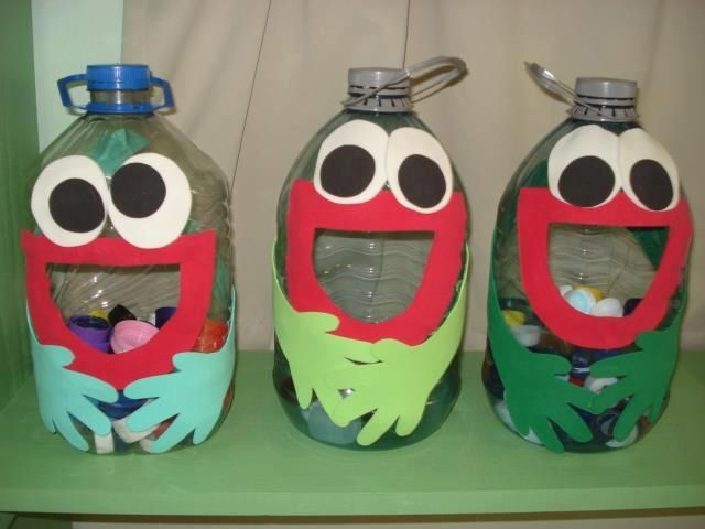 Divertido juego con botellas recicladas