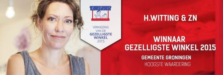 GRONINGEN - H.Witting & Zn winnaar gezelligste winkel 2015 van Groningen met de hoogste waardering. Evenals in 2013 en 2014 konden ook dit jaar de winkels die de winkelstraten van Nederland kleur geven in het zonnetje gezet worden!De verkiezing van de Gezelligste Winkel heeft plaats gevonden in alle 393 Nederlandse gemeenten. Iedereen mocht zijn of haar favoriete winkel nomineren. De Verkiezing van de Gezelligste Winkel…