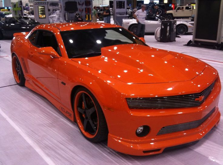 Not a big fan of the Camaro... but I gotta say the black on orange paint is sick!