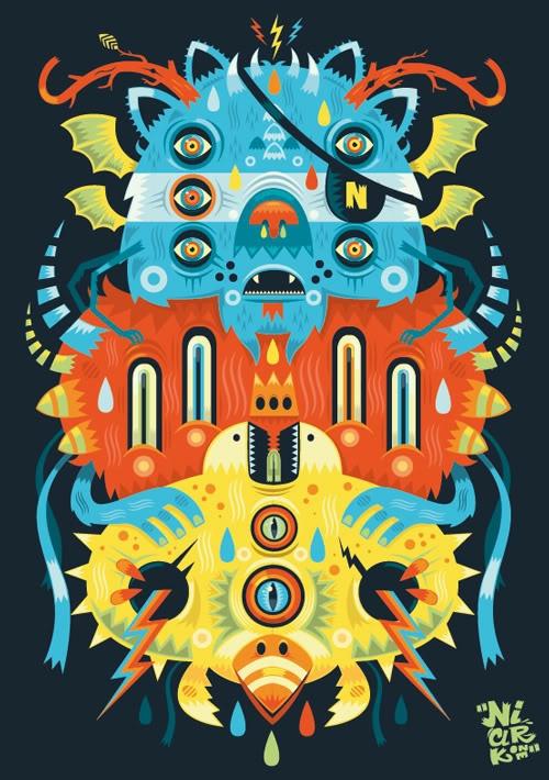 by Niark 1  monster character design art vector