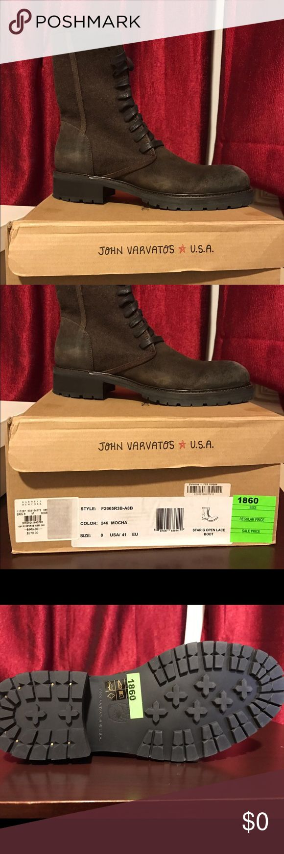 Men size 8 boots for sale Barney NY company men boots for sale, size 8 brand new John Varvatos Shoes Boots