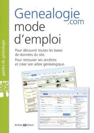 Genealogie.com, mode d'emploi:Amazon.fr:Livres