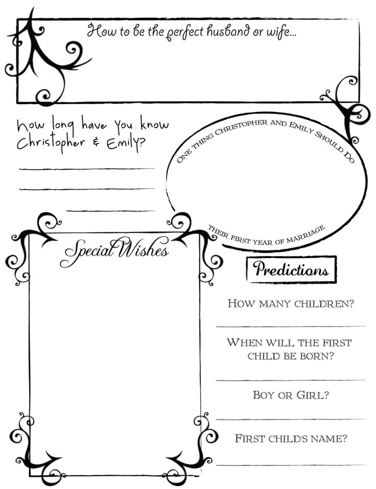 34 best DYI Printable Wedding Guest Book Alternative Templates - printable guest book templates
