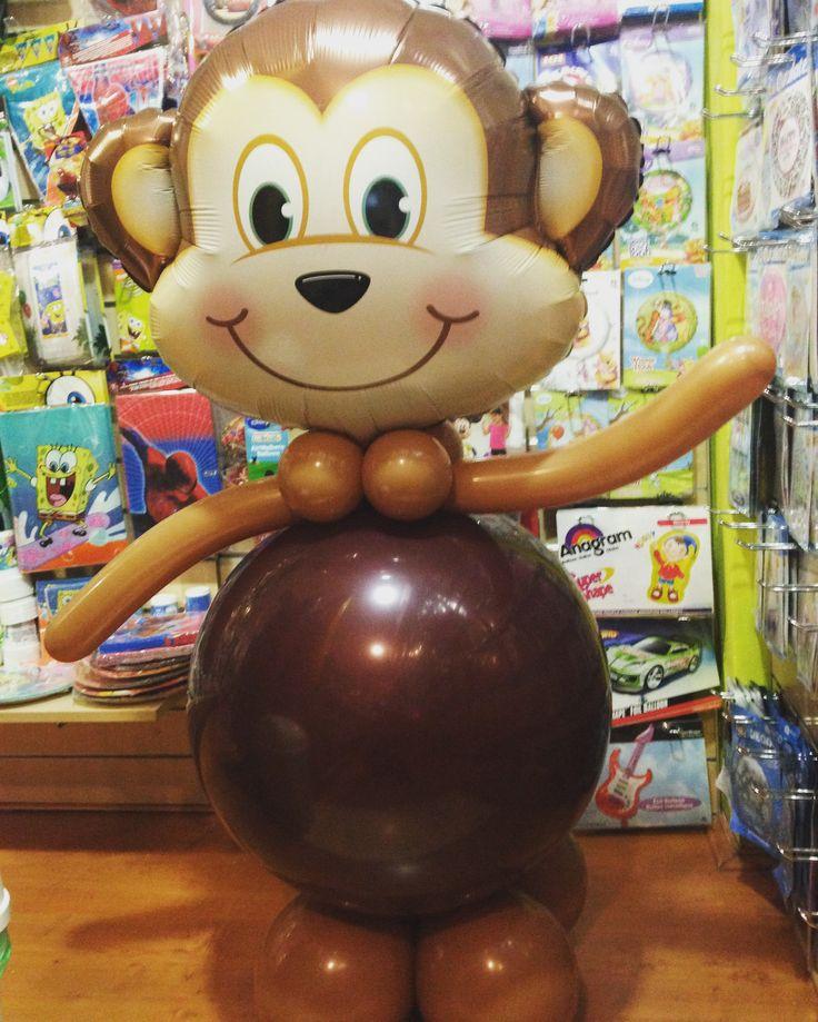 Majmocska lufiból. Akár születésnapra, névnapra vagy csak úgy ajándékba.  #majom #lufi #monkey #balloon #design