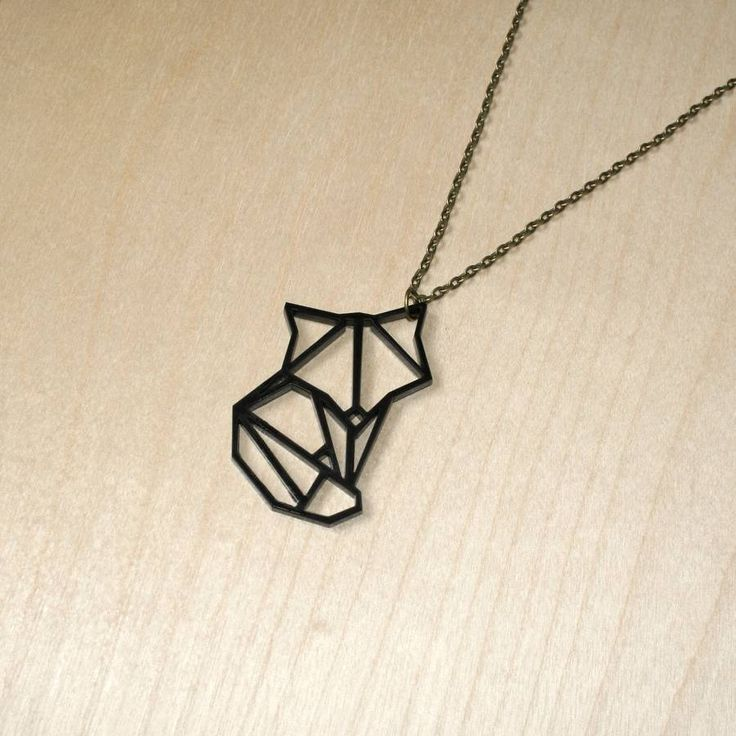 Origami Fox Pendant Necklace