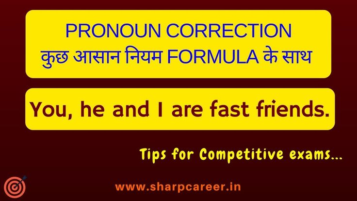 Pronoun Correction Rules   English for Competitive exams   English Gramm...