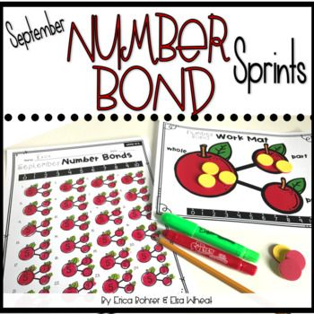 September Number Bond SprintsThis download is for September/apple themed number bond sprints and number bond practice.  Number bonds are a great way to build number sense and math fluency.These are print and go.  The work-mat comes in a color and black line version.