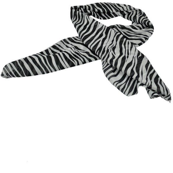 Beautiful Chiffon Zebra Print Safari Scarf, ON SALE $6.76