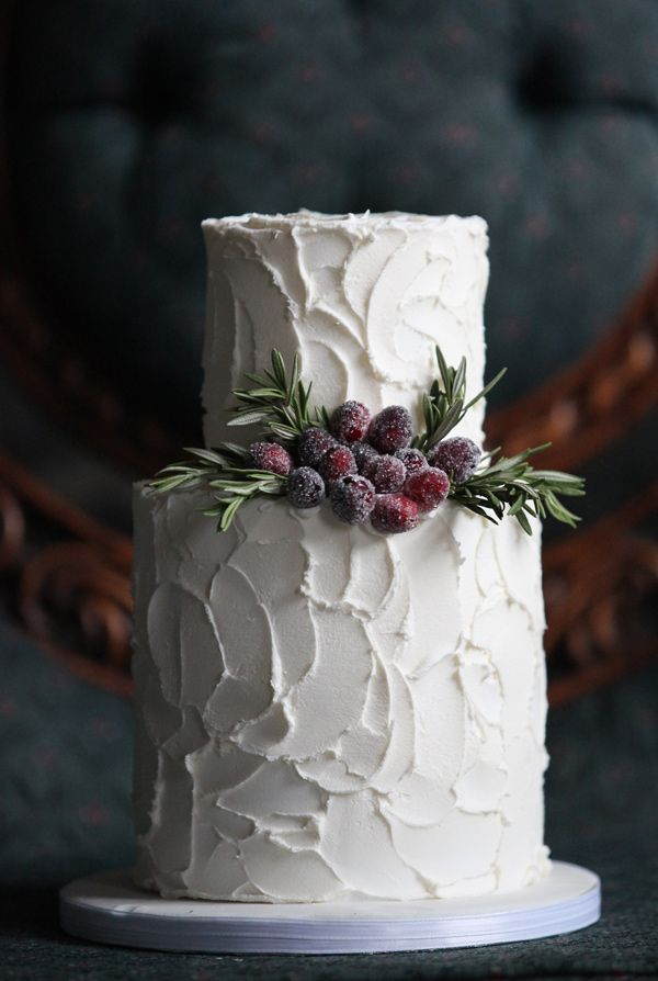 perfect winter wedding cake, photo by Kat Willson http://ruffledblog.com/victorian-revisited-wedding-ideas #cakes #weddingcake #winter