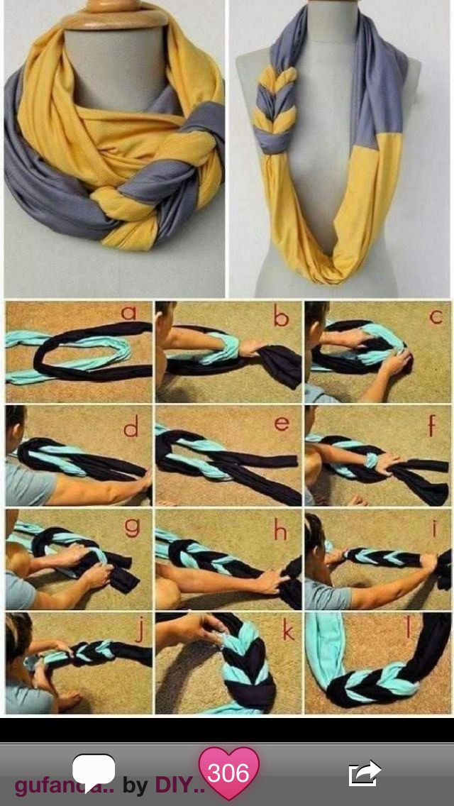 amazing scarf idea!