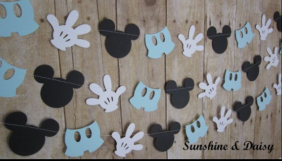10 ft mickey mouse inspired paper garland by Sunshineanddaisy