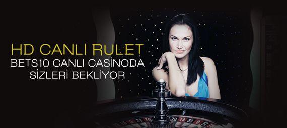 HD Canlı Rulet Bets10 Canlı Casino'da