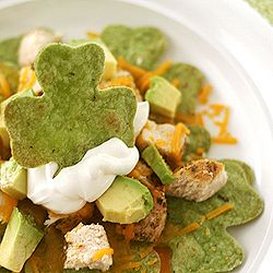 Shamrock nachos - check out this web site for a lot of St. Patrick's Day food - not just desserts