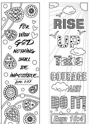 8 Bible Verse Coloring Bookmarks Coloring Pages Bible