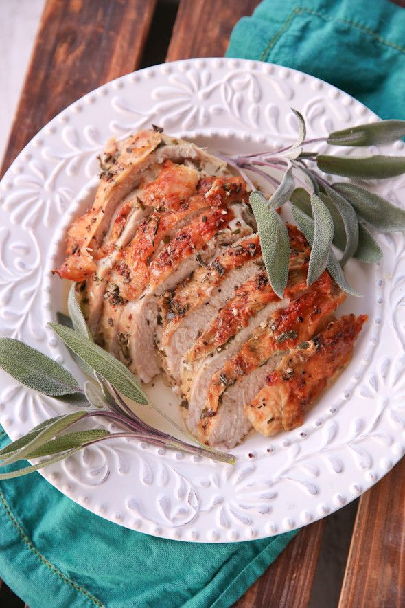 Herb Roasted Turkey Breast from Our Best Bites. An easy oven-roasted turkey breast basted in classic herbs. Perfect for family dinner, or a holiday meal when you don't need the whole bird!