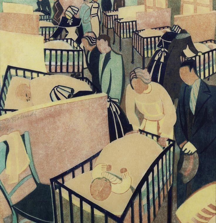 'Visiting Day' (1937) by Lill Tschudi