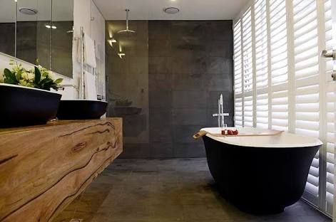 Image result for wood stone ensuite
