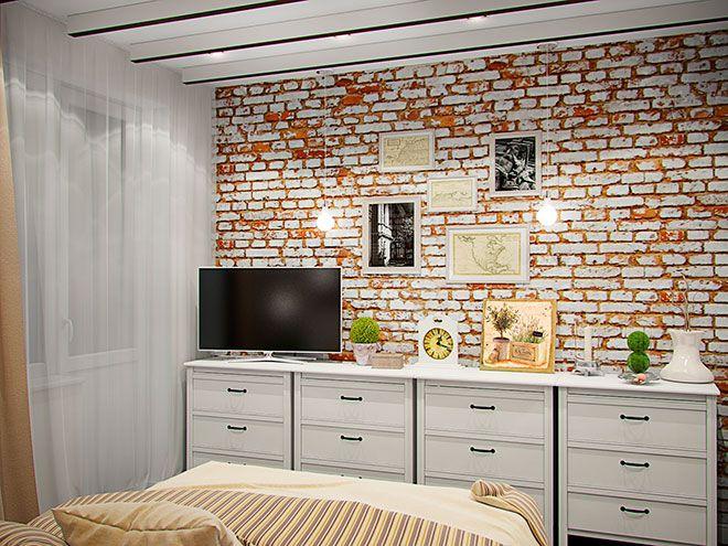 Спальня - Интерьер трехкомнатной квартиры в стиле Лофт для пары с ребенком, 100 кв.м.