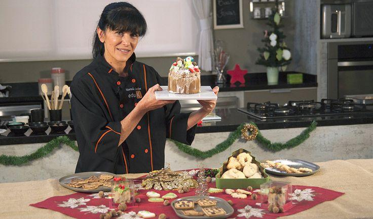 Curso ao vivo e gratuito Biscoitos e doces decorações de Natal, com Marcela Sanchez | eduK.com.br