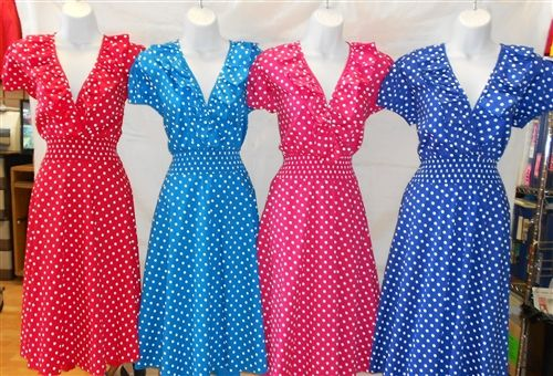 $44 Easter Dresses for Women 2013! Vintage POLKA DOT Easter Dresses for juniors, misses and plus size women!