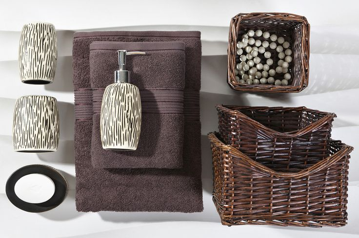 bathroom accessories - Black Red White